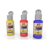 Pintura Acrilica Ad 6un X 60ml Tradicional-metalicos-fluor