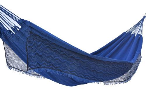 Rede De Dormir Descanso Balanco Casal Resistente Jeans