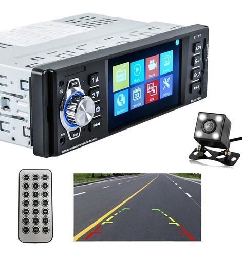Stereo Estereo Para Auto Con Pantalla De 4.1 Full Hd Radio Fm Lector Usb Sd Mp5 Conexion Bluetooth Celular Manos Libre