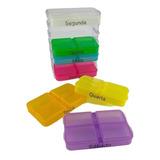 Caixa Comprimido Porta Medicamento Remédio 4x Ao Dia