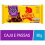 Barra De Chocolate Garoto Caju E Passas 90g C/ 3 Unidades Original