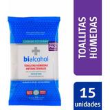 Toallas Húmedas Bialcohol 15un