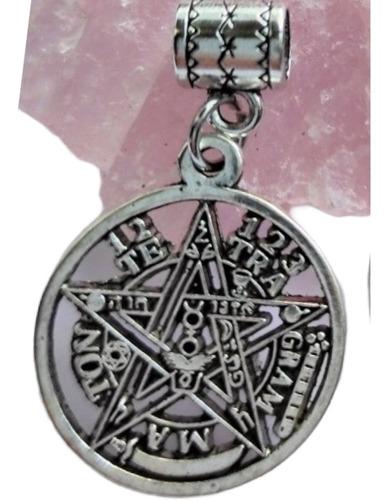 Tetragramaton Pentaculo Calado Plata Tibetana