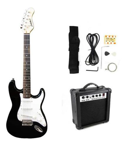 Combo Guitarra Eléctrica Negra + Amplificador Fiddler Gca05b