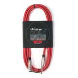 Cable Para Instrumento Tela Rojo R-l 3mts Western Mpltx