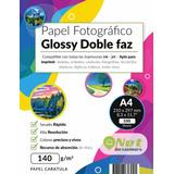 Papel Fotográfico Doble Faz Glossy A4 140 Gr 100 Hojas