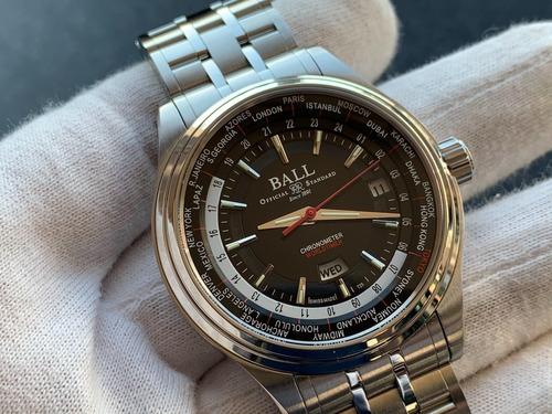 Relógio Ball Trainmaster World Time Chronometer Automatic
