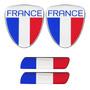 Adesivo Resinado Bandeira França Renault Citroen Peugeot 4pç Original