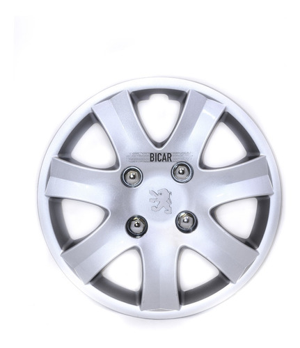 Juego 4 Tazas De Rueda Peugeot 207 Rodado 14 T6516