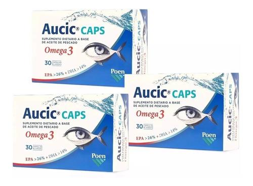 Aucic Caps Omega 3 Aceite De Pescado Trata Ojo Seco  90 Caps