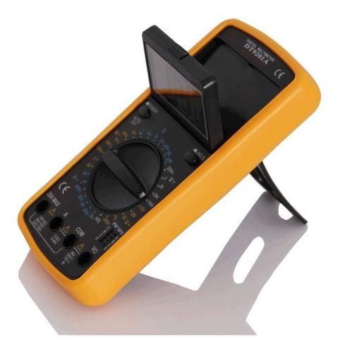 Multimetro Digital Capacimetro Capacidad Hfe 20 Amp 200ma