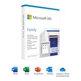 Microsoft Office 365 Family - 6 Usuários - Com 1tb Na Nuvem
