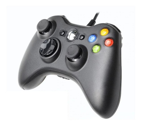 Joystick  Xbox Compatible 360 / Pc Con Cable 1 Año Gtia