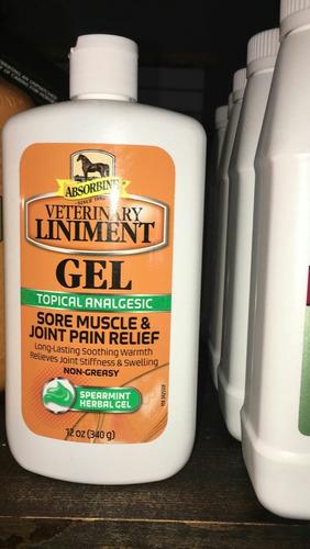 Absorbine Veterenary Liniment Gel Cura Cogera Dolor Muscular