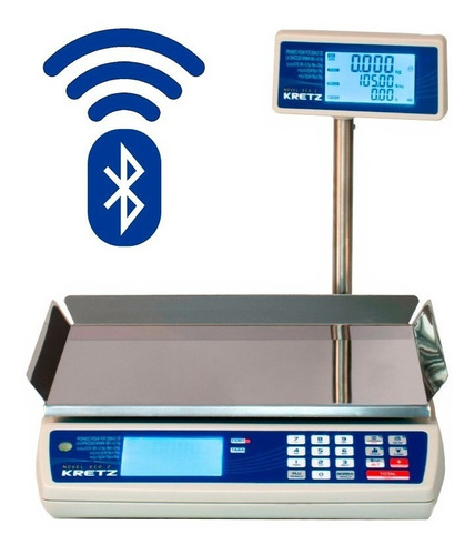 Balanza Electronica Kretz Novel Eco2 31kg Bluetooth Bateria Contadora