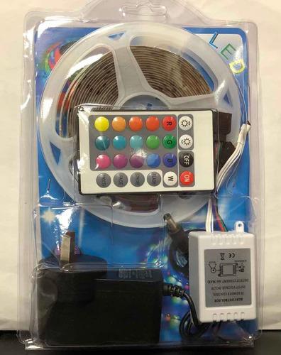 Tira De Luces Leds 4,5mts Con Control Remoto Y Transformador
