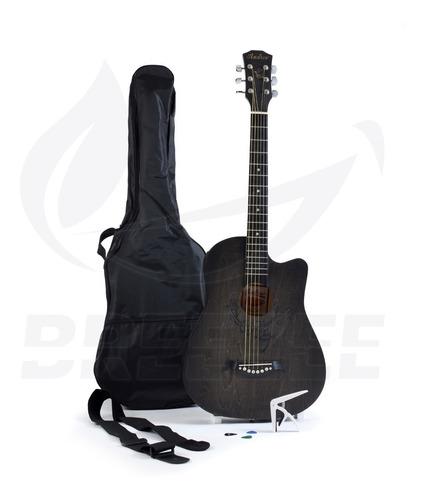 Guitarra Acústica 38 Pulgadas Kit Accesorios Estuche Calidad