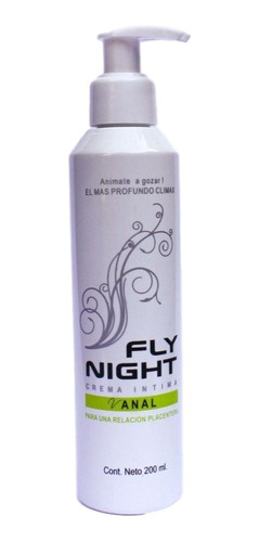 Lubricante Anal Crema Anal Fly Night 200 Ml Gel Intimo