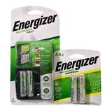 Cargador Energizer Maxi Y Baterias Recargables Aa Combo Kit