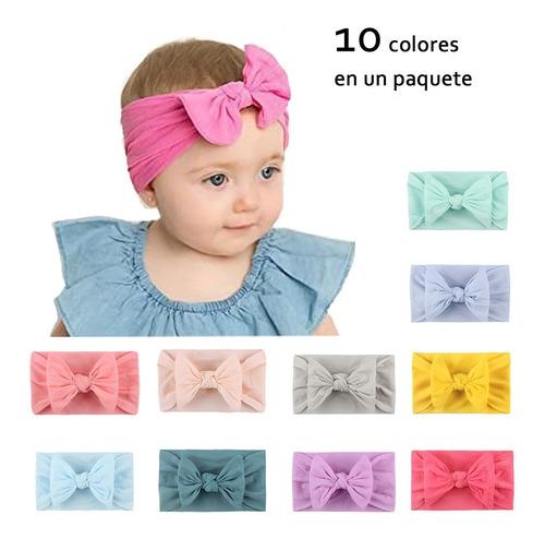 Paquete Diademas Niñas Bebes Turbante Headwrap Tiaras