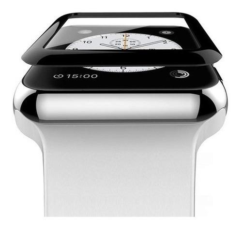 Vidrio Protector Curvo Para Apple Watch 38 40 42 44 Mm