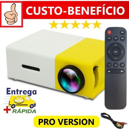 Mini Projetor Amarelo Portátil Yg-300 Pro 600 Lm Até 80 Pol