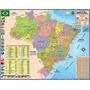 Mapa Brasil Politico Regional Rodoviário 120 X 90cm Gigante Original