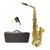 Saxofon Alto Silvertone En Eb Laqueado Modelo Slsx009