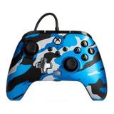Control Joystick Powera Enhanced Wired Controller For Xbox Series X|s Metallic Blue Camo