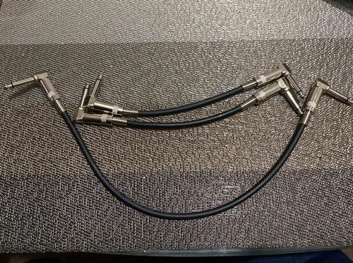 Cables De Patcheo Set 3pzs. Para Pedales De Guitarra O Bajo