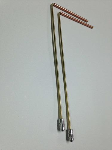 Varillas Radiestesia Trimetal 30cm Cobre Bronce Aluminio