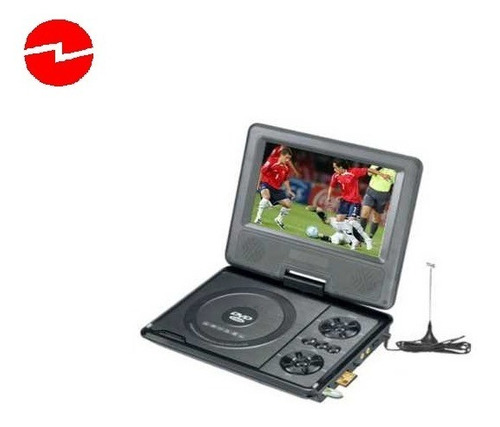 Mini Dvd + Televisor Tv Portátil Color, Usb, Sd, 220v/12v