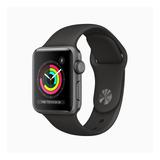 Apple Watch  Series 3 (gps) - Caixa De Alumínio Cinza-espacial De 38 Mm - Pulseira Esportiva Preto
