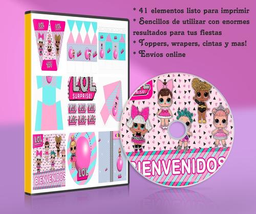 Kit Imprimible Lol Surprise Para Fiestas Moldes, Cajitas Etc