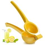 Exprimidor Manual De Limon Doble Mango Prensa Metalico