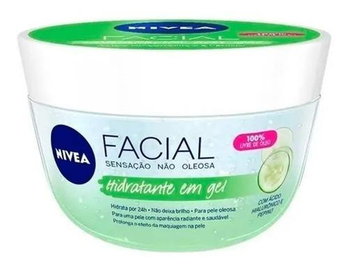 Hidratante Facial Em Gel C/ Hialurônico E Pepino Nivea 100g