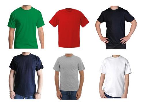 Camiseta Cuello Redondo T-shirt Color Manga Corta