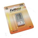Bateria 9v 250 Mah Full Total Recargable Factura A O B