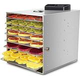 Maquina Deshidratadora De Alimentos, 8 Bandejas De Acero In