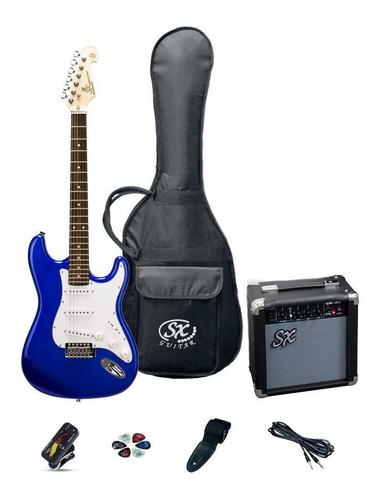 Combo Guitarra Eléctrica Stratocaster Amplificador Funda