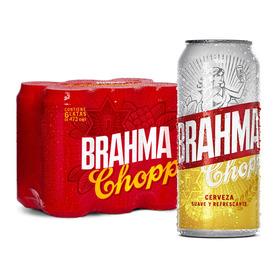Cerveza Brahma Chopp American Adjunct Lager Rubia Lata 473ml 6 U