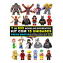 Kit 15 Bonecos Super Heróis Marvel Star Wars Disney Similar Original