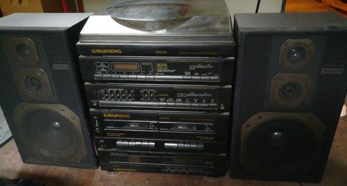 Minicomponente Equipo De Música Grundig Cdm 970 C/ Tocadisco