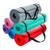 Yoga Mat Colchoneta + Cinta P/ Transport Nbr 183x61x15mm Pro