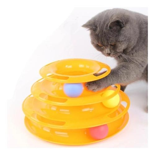 Brinquedo Interativo P/ Gatos Corre Corre Torre De Bolinhas