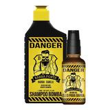 Combo Danger Shampoo + Óleo Aceite Barba Cabello Barba Forte