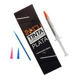Tinta Conductiva De Plata Inkcu 3 G + Accesorios