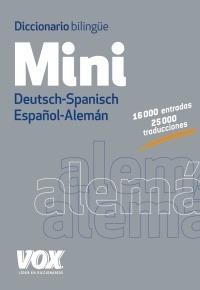 Diccionario Vox Mini Bilingue Deutsch-spanisch / Español-ale
