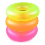 10 Salvavidas Inflable 91 Cm Neon Adultos Intex