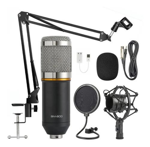 Microfono Condenser  Bm-800 Estudio Karaoke Locucion Brazo
